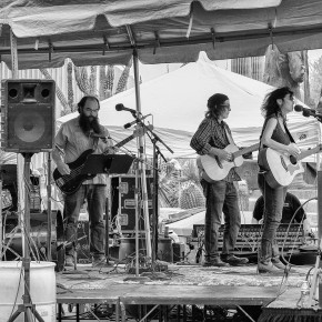 Cristina Williams and her band at the 2016 Tucson Folk Festival